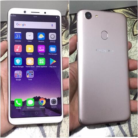 Oppo F5 4/32Gb Gold Dualsim Fullset Mulus Bisa tt