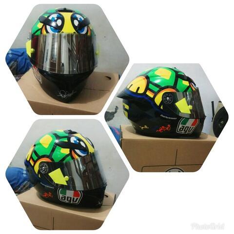 HELM AGV K3 SV tartaruga + Flat Visor