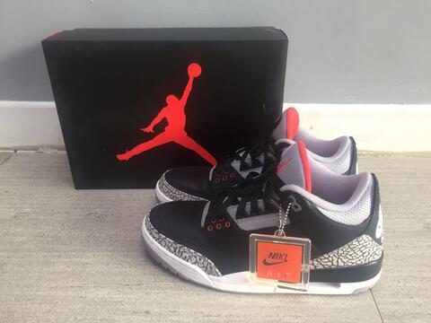 9ec6b3dedba3 Terjual Air Jordan 3 Black Cement Authentic BNIB