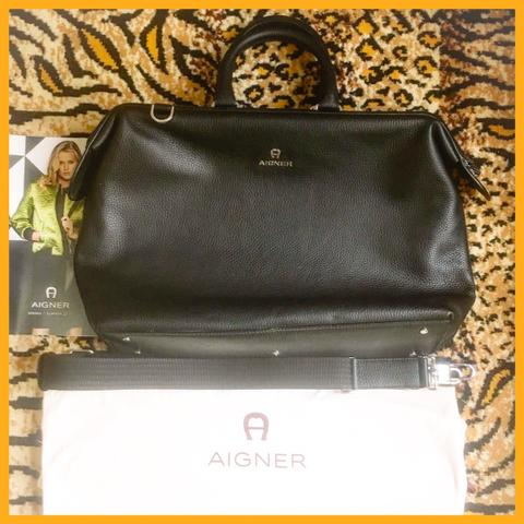 AIGNER Leather Bag Murah!