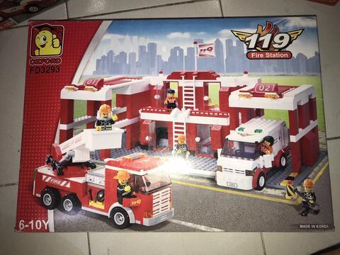 Oxford High Quality Korean Lego - Fire Station FD 3293