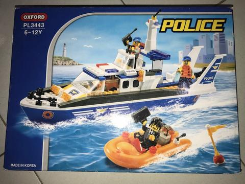 oxford high quality korean lego - police collection - boat squad PL3443