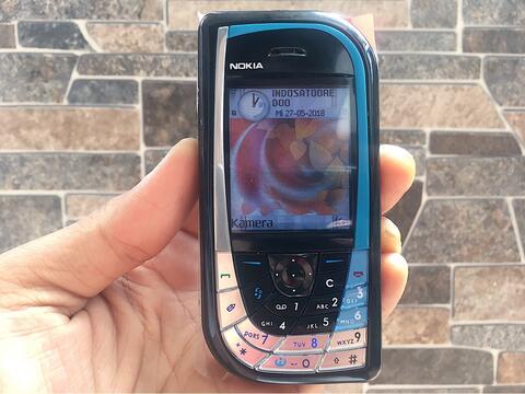 Nokia 7610 Ketupat Biru Normal Hp Jadul Klasik Kamera Handphone Nostalgia