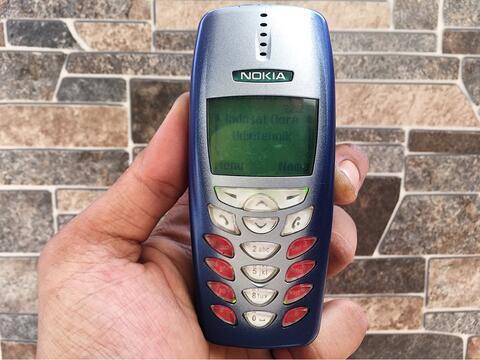 Nokia 3350 Biru Normal Hp Jadul Layar Kuning Klasik Handphone Nostalgia
