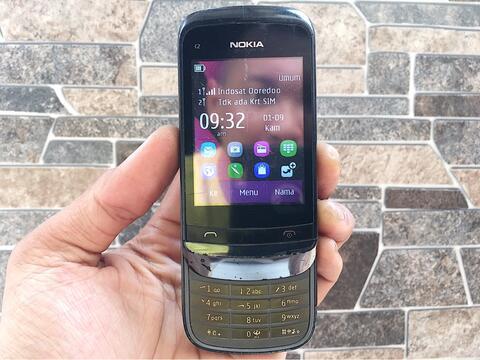 Nokia C2 - 03 Dual Sim Normal Hp Jadul Slide Layar Sentuh Handphone Nostalgia