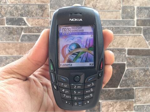 Nokia 6600 Black Normal Hp Jadul Klasik Kamera Handphone Nostalgia