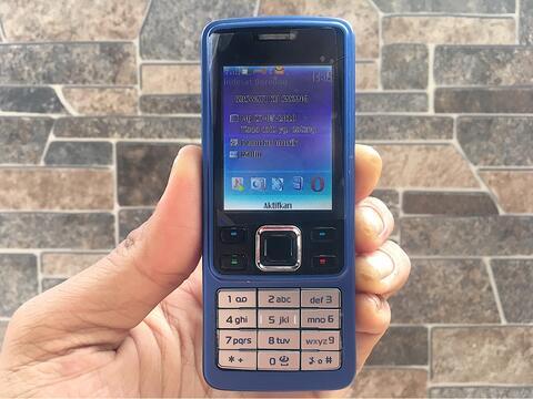 Nokia 6300 Biru Normal Hp Jadul Klasik Antik Langka Handphone Nostalgia
