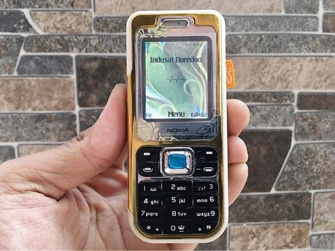 Nokia 7360 Fashion Gold Normal Hp Jadul Klasik Kamera Handphone Nostalgia