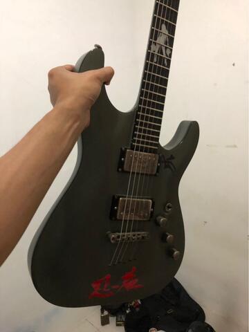 jual wts gitar listrik schecter c-1 lady luck original made in korea 2008 mulus