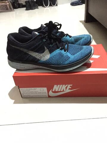 Nike Flyknit Lunar 3 blue lagoon ori (not flyknit racer, flyknit trainer)