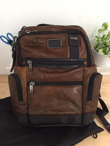 Tumi Knox Backpack Leather NEW