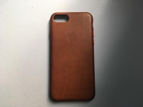 Apple leather case original saddle brown iphone 7 / iphone 8