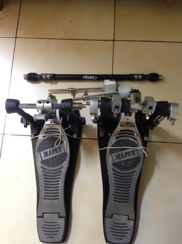 """Double Pedal Mapex P980A & Cymbal Chinese Nebulae 18"""" mulus terawat"""
