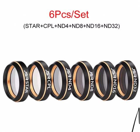 DJI MAVIC AIR - JSR Camera Lens Filter - 6Pcs UV - CPL - Star - ND4 - ND8 - ND16