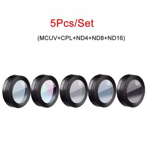 DJI MAVIC AIR - Camera Lens Filter - 5Pcs - MCUV - CPL - ND4 - ND8 - ND16