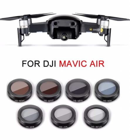 DJI MAVIC AIR - Camera Lens Filter - 7 - MCUV - CPL - ND4 - ND8 - ND16 - ND32 - ND64