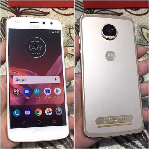 Motorola Z2 Play 64Gb Dual Gold Mulus Fullset Bisa tt