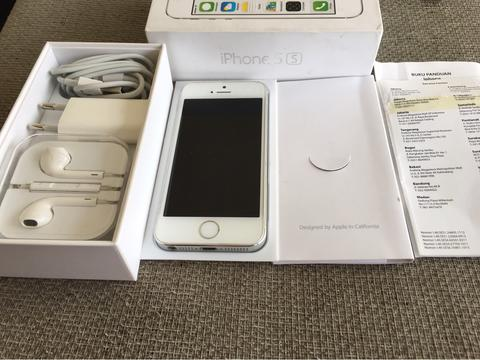 iphone 5s silver 32gb ex ibox