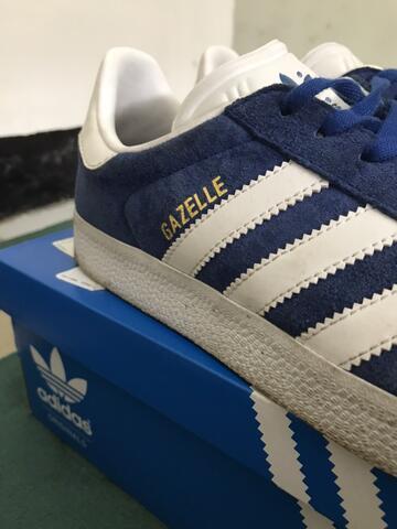 Sepatu Gazelle Adidas Original 1991 (Blue Suede)