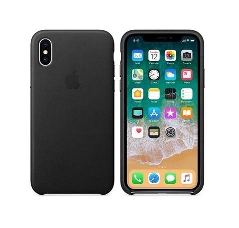 APPLE Leather Case Original iPhone X / 10 - Black