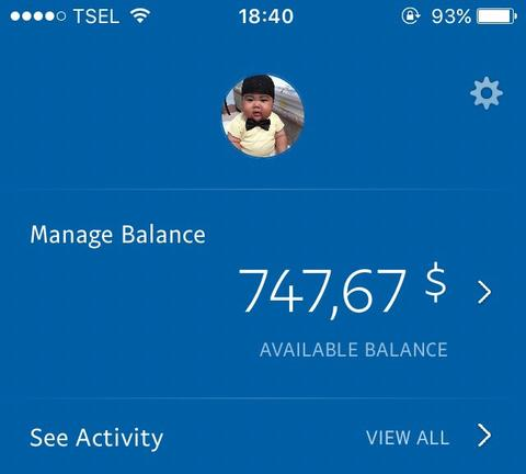 WTS Paypal Balance in USD/EUR