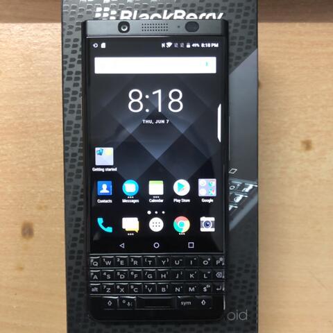 Blackberry Keyone Black Edition Dual 4/64GB lecet sikit harga murah Garansi resmi