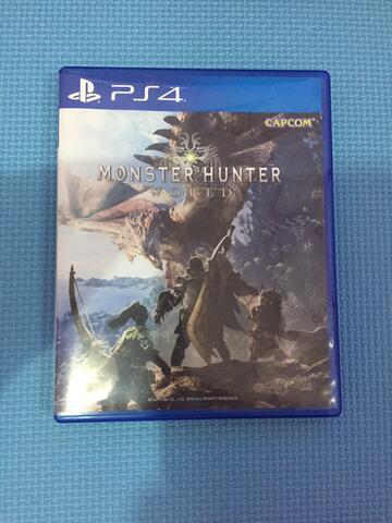 Jual BD KASET PS4 Monster Hunter World, FFXV, Shadow of War Mulus Murah