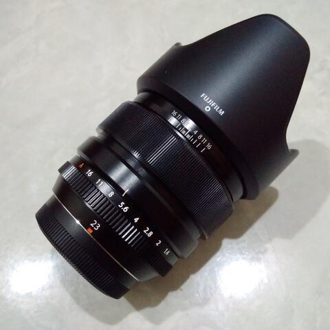 [CAKIM] WTS lensa Fuji Fujinon XF 23mm F1.4 R mulus murah