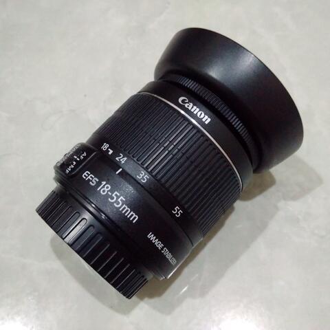[CAKIM] WTS lensa Canon EF-S 18-55mm IS II bonus hood mulus