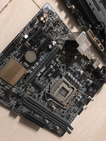 [WTS] JUAL SEPAKET ASUS H110M, INTEL CORE I3 7100, RAM 8GB TEAM DARK GREY