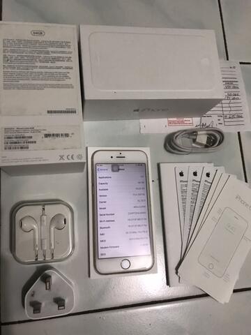 iPhone 6 64 white putih ex apple resmi inter seken bekas mulus like new