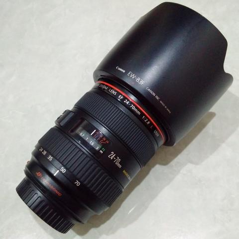 [CAKIM] WTS lensa Canon EF 24-70mm F2.8 L USM mulus kode UY bonus filter
