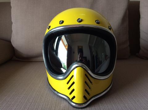 Helm Moto 3 Yellow Classic Not Cakil, Gringgo, Bell, Bitwell