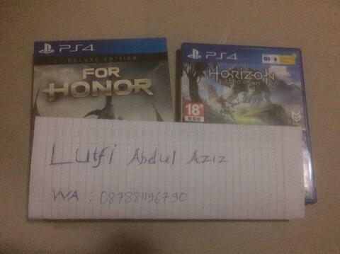 BD Ps4 Horizon Zero Dawn & For Honor Deluxe Edition