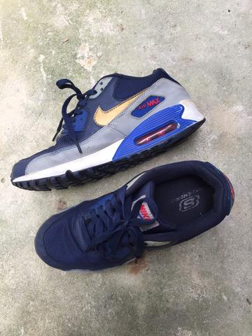 Air Max Essential 90 Gold Grey Blue