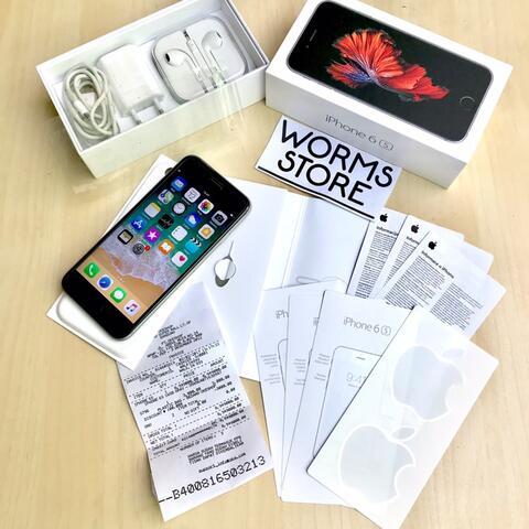 iPhone 6s gray 16Gb Resmi Okeshop Mulus Likenew Fullset Bandung
