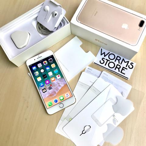 iPhone 7Plus 32Gb Gold Mulus Like New Fullset Ori Bandung