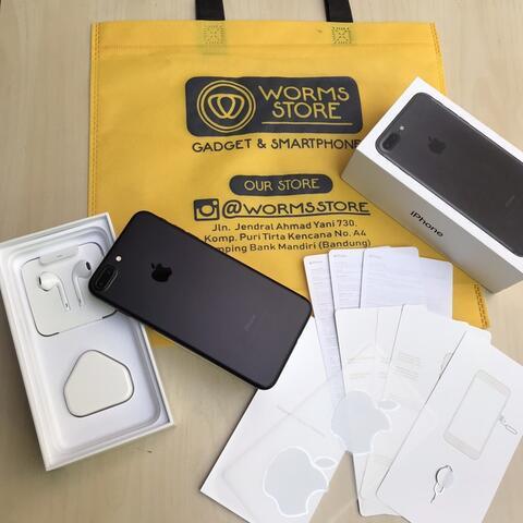  iPhone 7 Plus 32Gb Mate Black Mulus Fullset Garansi bandung