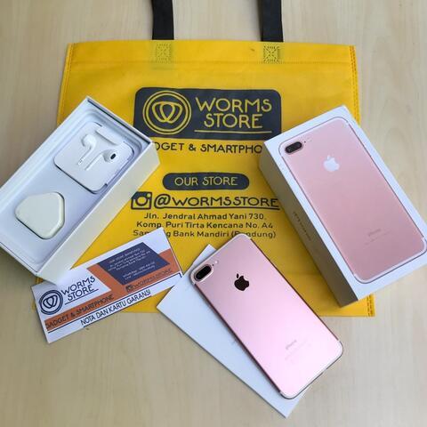  iPhone 7Plus 32Gb Rose Gold Garansi Mulus Fullset Bandung