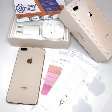  iPhone 8 Plus 64Gb Gold Resmi iBox Mulus Like New Garansi Bandung