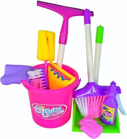 cleaning set kantong mainan sapu sapuan