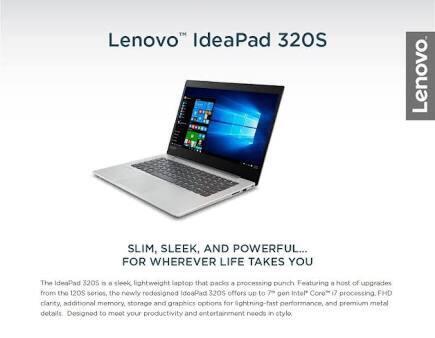 Lenovo Ideapad 320S-13IKB i5-8250U/8GB DDR4/256GB SSD/Geforce MX150 thin slim FHD