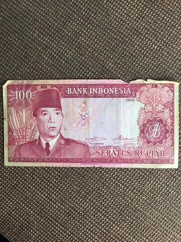 Uang Lama/Kuno Rp100 Soekarno