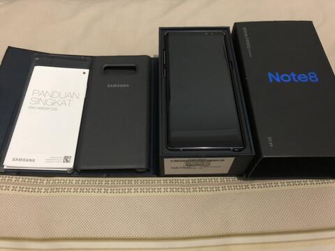 Samsung Note 8 Orchid Gray Mulus Masih Garansi