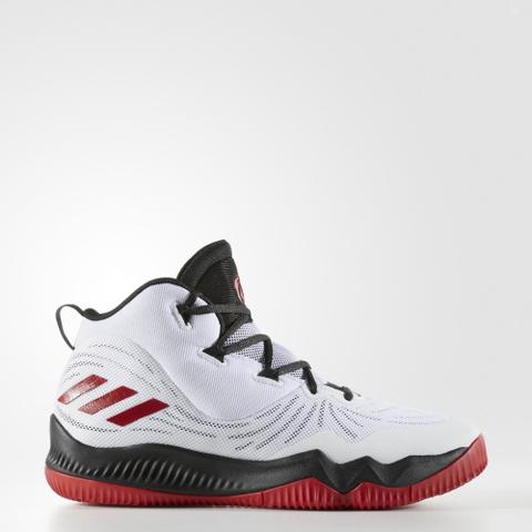 brand new b98c6 16ffa Adidas Men Basketball D Rose Dominate III Shoes White Black Red Original