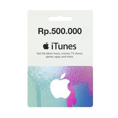 iTunes Gift Card Indonesia 500k