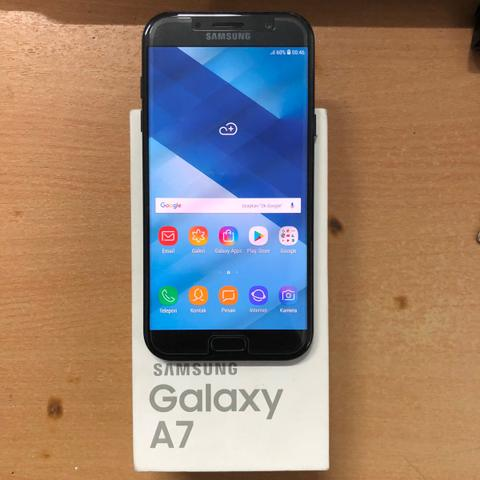 Samsung Galaxy A7 2017 Black Super Mulus no Minus Garansi SEIN