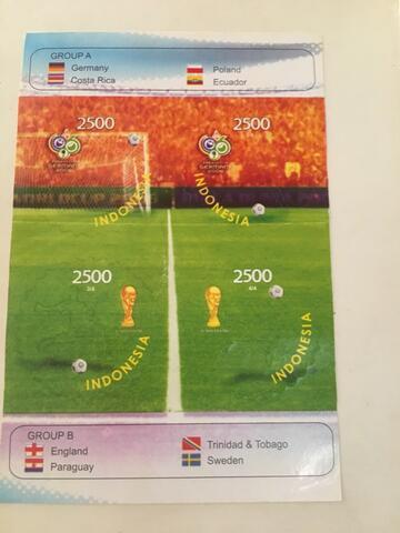 Dijual perangko edisi piala dunia 2006