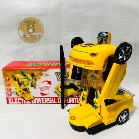 Mainan Laki Laki Mobil Robot B/O Transformer Bumble Bee Bisa Jadi Robot
