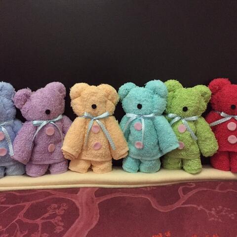 Souvenir handuk bentuk teddy bear murah